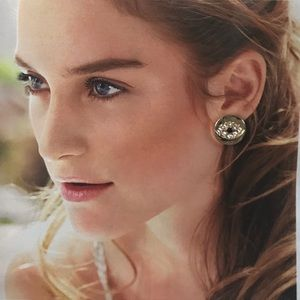 Gold Diamond Talismanic Eye Symbol Earring